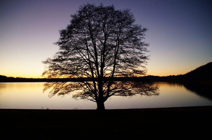 Solnedgang ved Knudsø