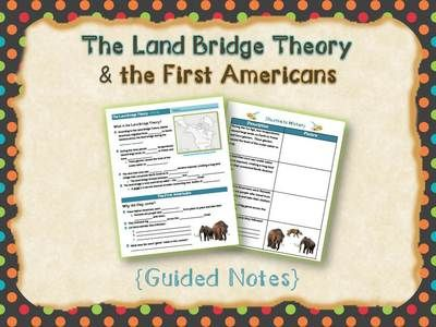 Land Bridge Theory Bundle from Tick-Tock Teach! on TeachersNotebook.com (16 pages)