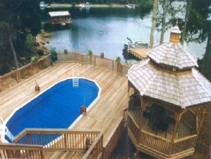 Image of above ground swimming pools with decks photos for Above ground pool decks photos