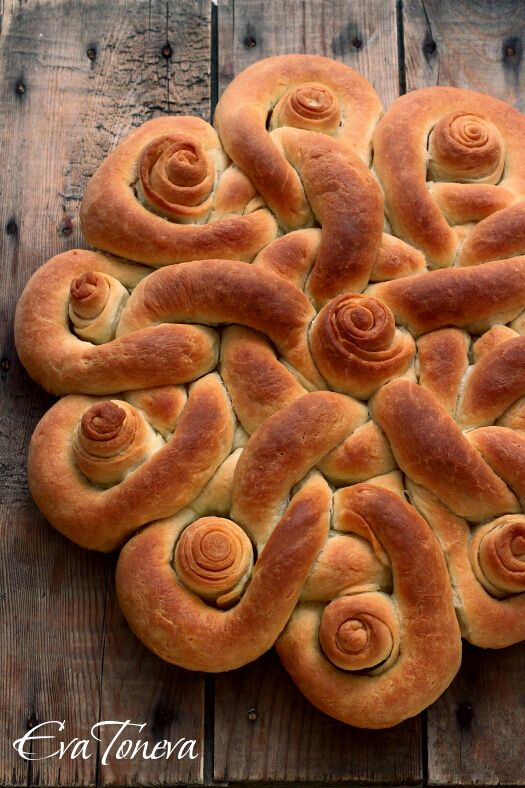 Use your favorite bread/roll recipe and use this pattern to form your dough before baking...