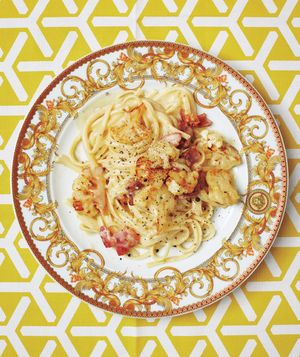 Upgrade your traditional carbonara recipe with browned cauliflower and crisp pancetta. Get the recipe for Linguine Carbonara With Cauliflower and Pancetta .