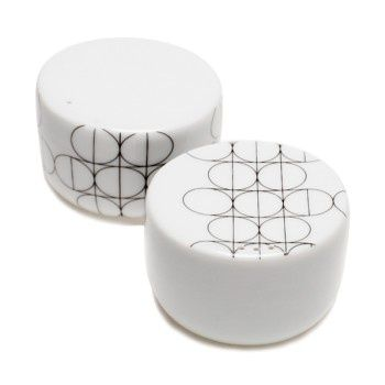 SCANDINAVIAN SET - salt and pepper shakers - Mopsdesign  Porcelain egg cup, element of SCANDINAVIAN SET collection.