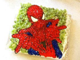 spiderman kyara cake