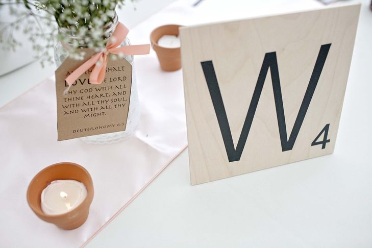 Cute scrabble idea for the wedding