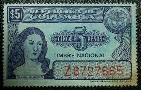 Stamp: Timbre Nacional Policarpa Salavarrieta