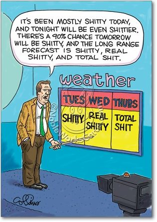 funny weather pictures | Shitty Weather Adult Humorous Birthday Paper Card Nobleworks