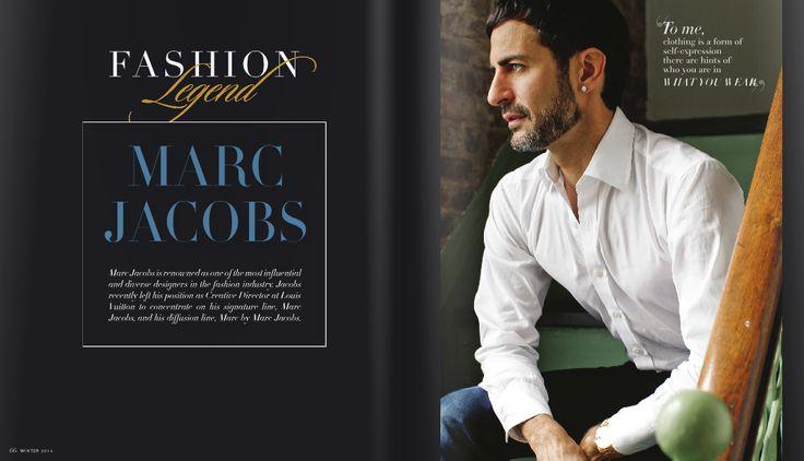 Fashion Legend- Marc Jacobs inside NICHE magazine Winter issue  Read online here: http://www.nichemagazine.ca/digital-editions/winter-2014/