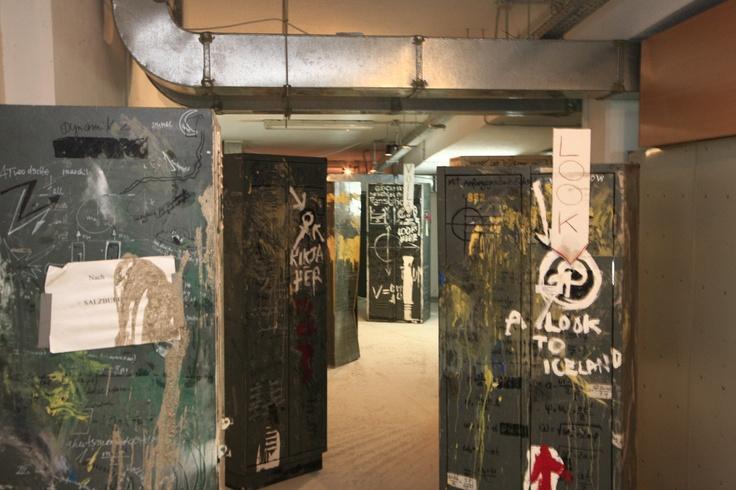 "Christoph Schlingensief Stahlweg I-XII, 2006 multimedia installation dimensions variable Courtesy: Thyssen-Bornemisza Art Contemporary, Vienna Installation view, 2nd Athens Biennale 2009 ""Heaven"""