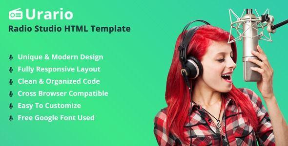 Urario - Online Radio HTML Template | Best Premium HTML