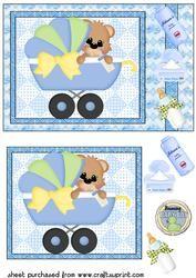 De leuke Jongen van de Baby draagt Kaart Front 1