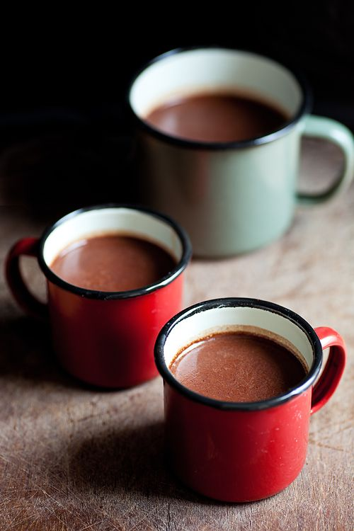 Alcoholic hot chocolate to keep the cold away.