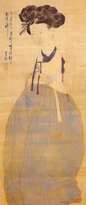 """Shin yunbok - """"Mi-in-do""""(Portrait of a beauty)"""