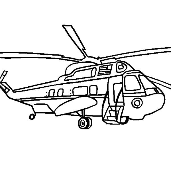helicopter marine one presidential coloring pages