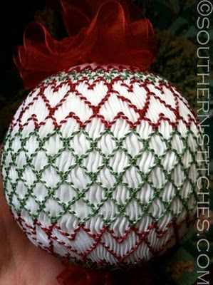 SewNso's Sewing Journal: vertically smocked christmas ornament {smock-a-long}