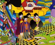 : The Beatles, Yellow Submarines, Beatles Yellow, Picture-Black Posters, Posters Prints, Comic Books, Submarines Posters, Art, Concerts Posters