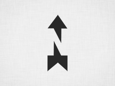 This is a very clever and efficient north arrow.