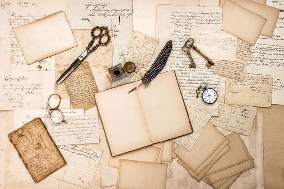 antique accessories and old letters by LiliGraphie on Creative Market