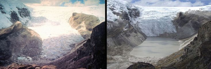 Climate change began to take a more extreme toll on glaciers in the 1970s as well. Here is a photo of Qori Kalis Glacier in Peru in 1978 (left) and again in 2011 (right). (Photos via NASA)  via @AOL_Lifestyle Read more: https://www.aol.com/article/news/2017/04/22/20-images-that-show-how-much-weve-reshaped-planet-earth-in-the/22050763/?a_dgi=aolshare_pinterest#fullscreen