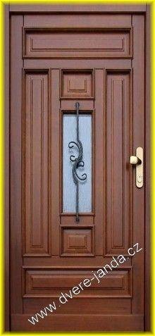 Athena Vchodové dveře dřevěné Poseidon otvírání: Pravé, zasklení: činčila bronz…