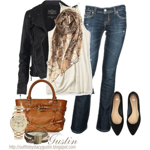 Burberry purse, Michael Kors watch   ... if only i had money: Black Leather Jackets, Outfits, Design Shoes, Fashion Styles, Clothing, All Saints, Casual, Burberry Bags, Closet