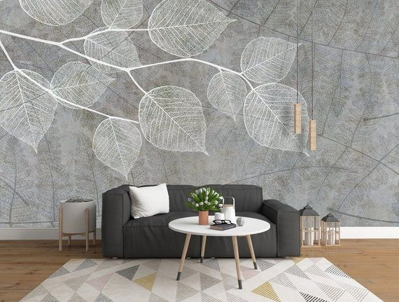 3d Grey Background Details Leaf Texture Wallpaper Removable Etsy In 2021 Grey Wallpaper For Walls Home Wallpaper Wallpaper Living Room