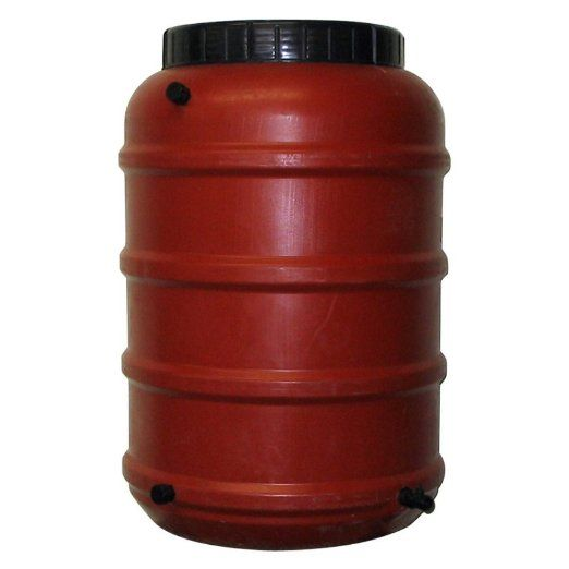 Upcycle 50 Gallon Terra Cotta Rain Barrel Rain Barrel Rain Barrel System Rain Water Collection System