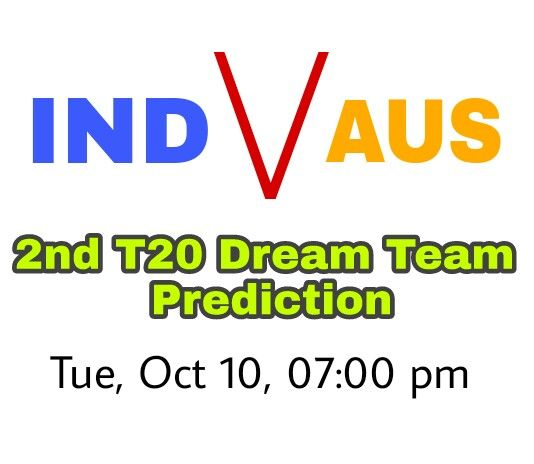 Hello and Warm, Welcome to India Vs Australia 2nd T20 Preview Dream11 Team Prediction. We Cover Probable Playing XI, Team News and Dream11 Cricket Team.