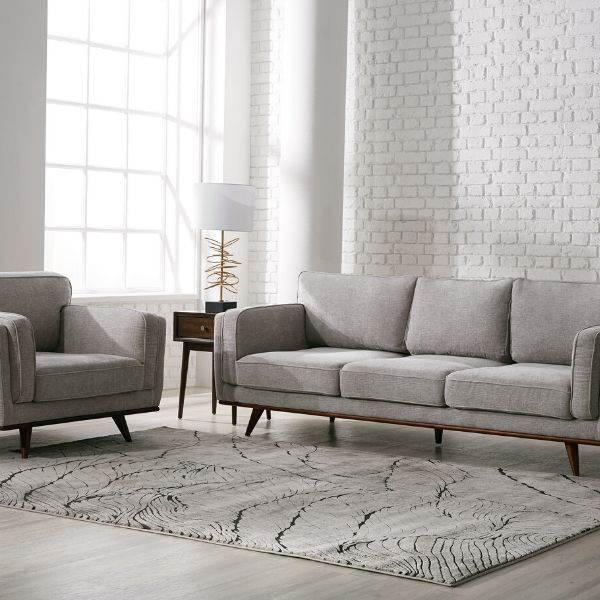 Adrianna Sofa And Chair Set Light Taupe In 2020 Sofas And Chairs Living Room Sofa Chair Set