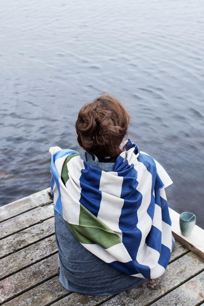 A lot of beautiful scarves from the danish fashion brand Mind of Line. http://www.mindofline.com/shop/torklaeder/mind-of-line-stripes-blue-uldtorklaeder.html