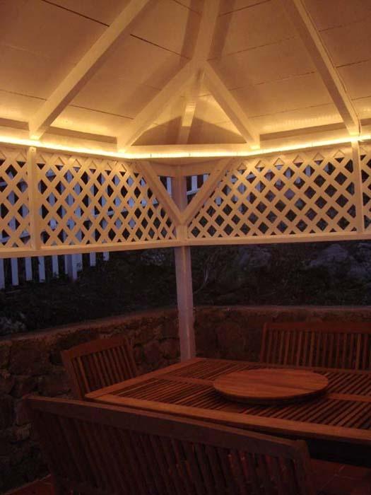 Gazebo Lighting Idea Gazebo Lighting Backyard Lighting