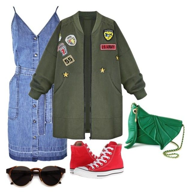 Grunge-y Chic In The City by penkreitto on Polyvore featuring polyvore fashion style J Brand WithChic Converse RetroSuperFuture clothing