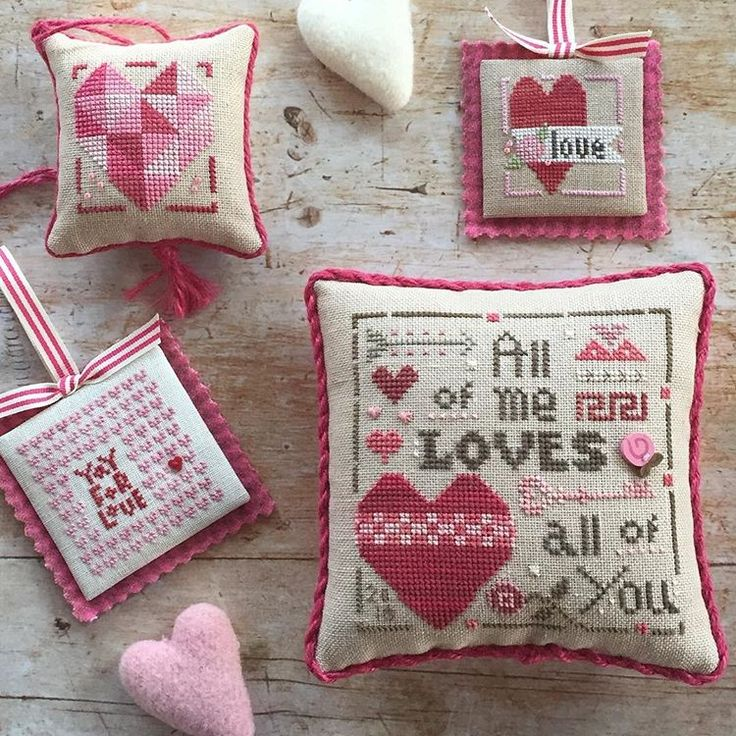 Shipping early next week! The 20th Anniversary Collector's Heart kit and 2 new Merrymaking Minis for Valentines Day. #bemine #valentinesday #love #heartinhandneedleart