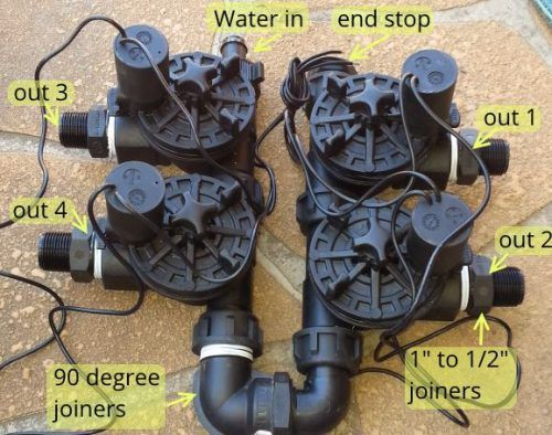 Solenoid valves for garden watering system