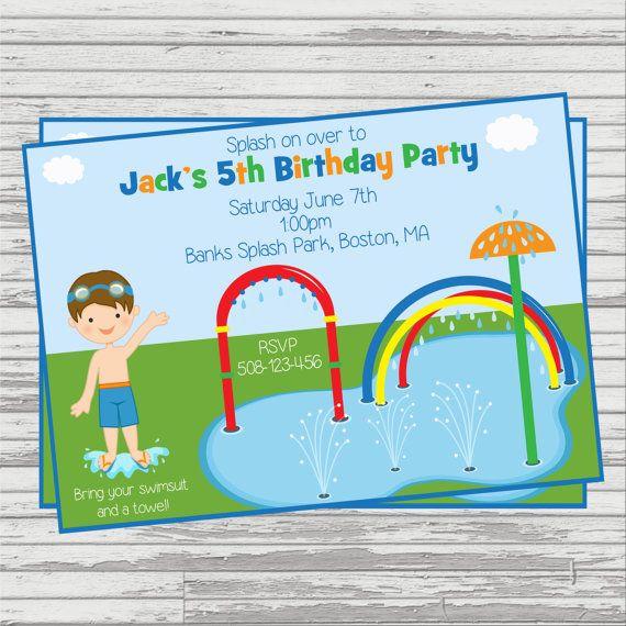 Boys Splash Park Splash Pad Water Slide by SandInMyShoesDesigns