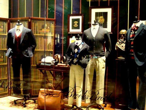 Men S Clothing Window Display Brooks Brothers Window
