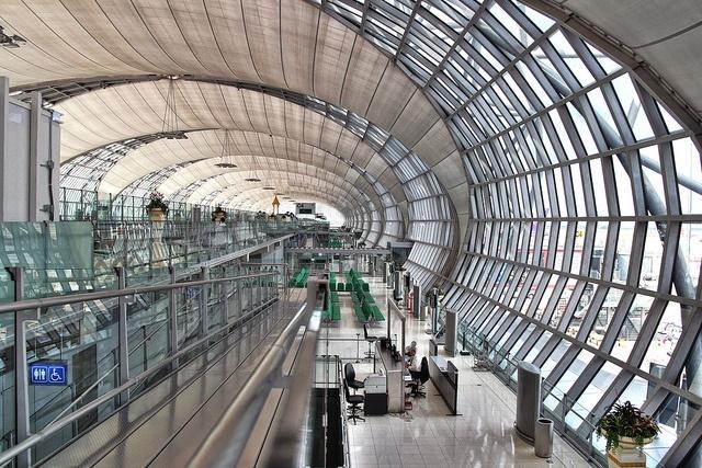Suvarnabhumi (Bangkok) Airport . One of the most stunning airports I have seen.