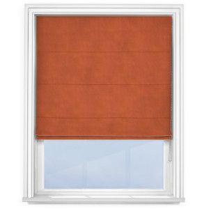 cheap-burnt-orange-roman-blind