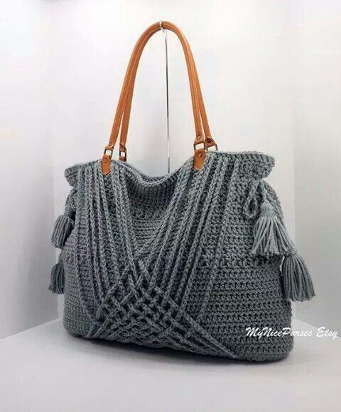 Bolso de ganchillo - Crochet bag Via Etsy