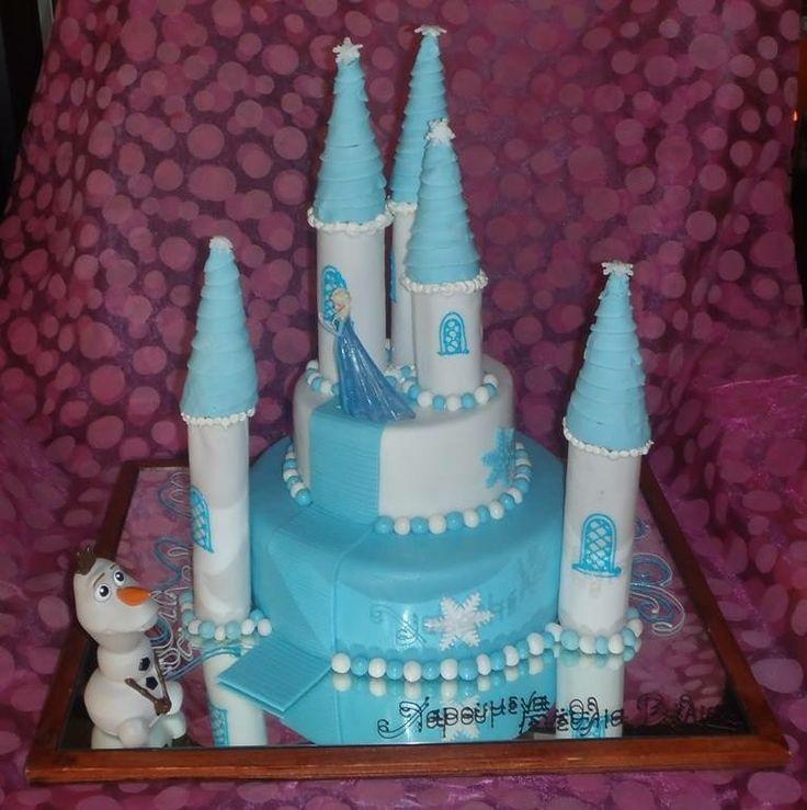 Frozen and Olaf birthday cake handmade