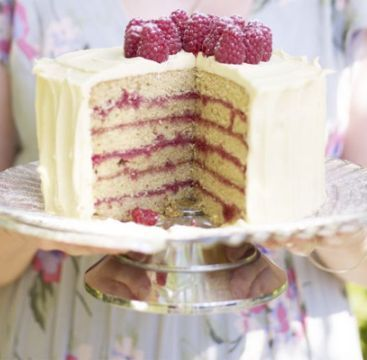 Raspberry spice cake. A show-stopping layer cake of moist buttermilk ...