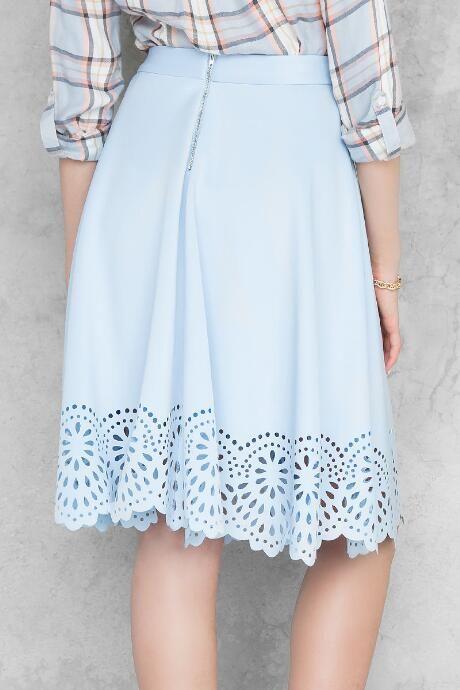 Annie Scalloped Midi Skirt $44.00