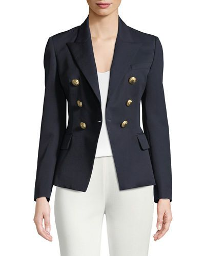 baf2657a262 B38LG Balmain Classic Double-Breasted Wool Blazer | Wear2Invest Jacket