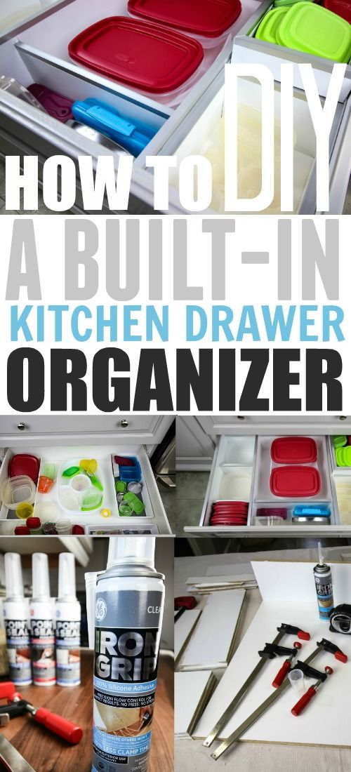 How to build your own custom kitchen drawer organizers! So smart! #ad