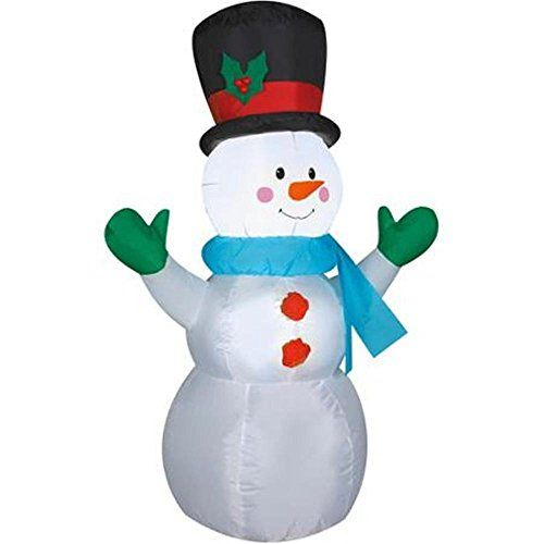 Christmas Outdoor Decorations Target: Airblown Inflatable Lighted 4' Snowman Christmas Yard