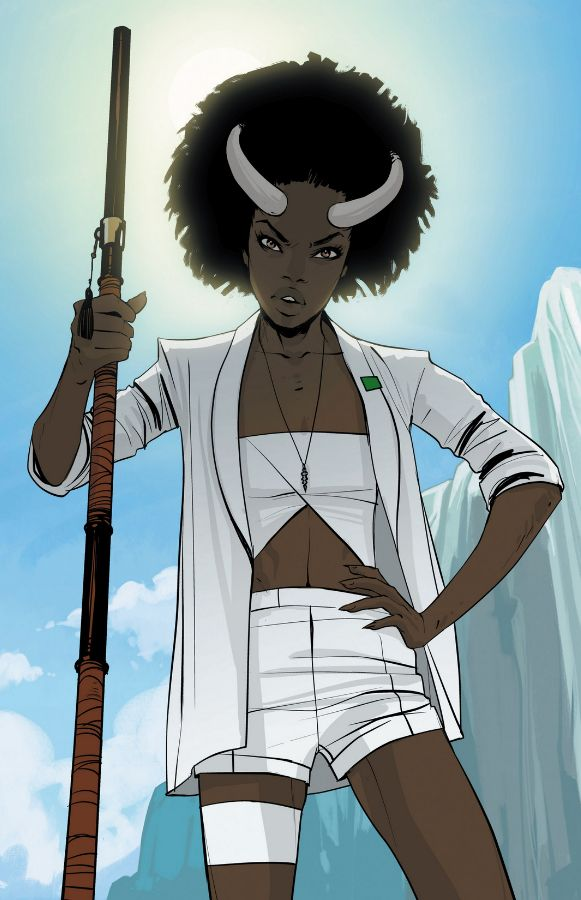 Gwendolyn, perhaps my new favorite character in Saga. Gwen is a fucking boss.