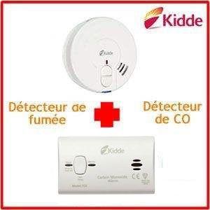 Pack Détecteur de Fumée 29HLDFR + Détecteur de CO 10 ans Kidde