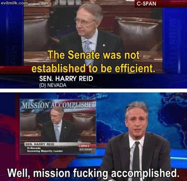 Mission Accomplished Senate