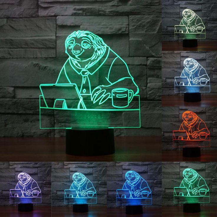 Zootopia Sloth Flash 3D Illusion LED Lamp