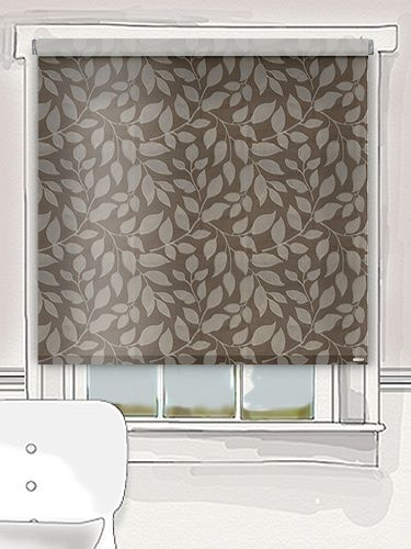 a Mediterranean leafy pattern in rich chocolate brown, this LaVigna roller blind is exquisitely woven to give a beautiful and unique embroidered effect... #thermal #roller #blind