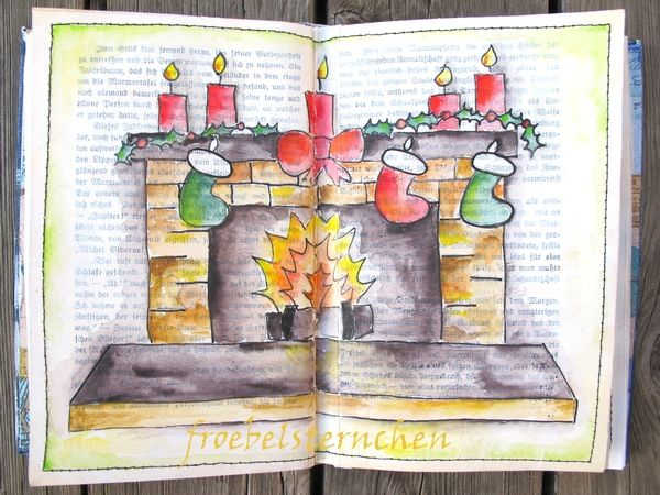 froebelsternchen: Post No.2221 - DoodleDrawArt - At the fireplace